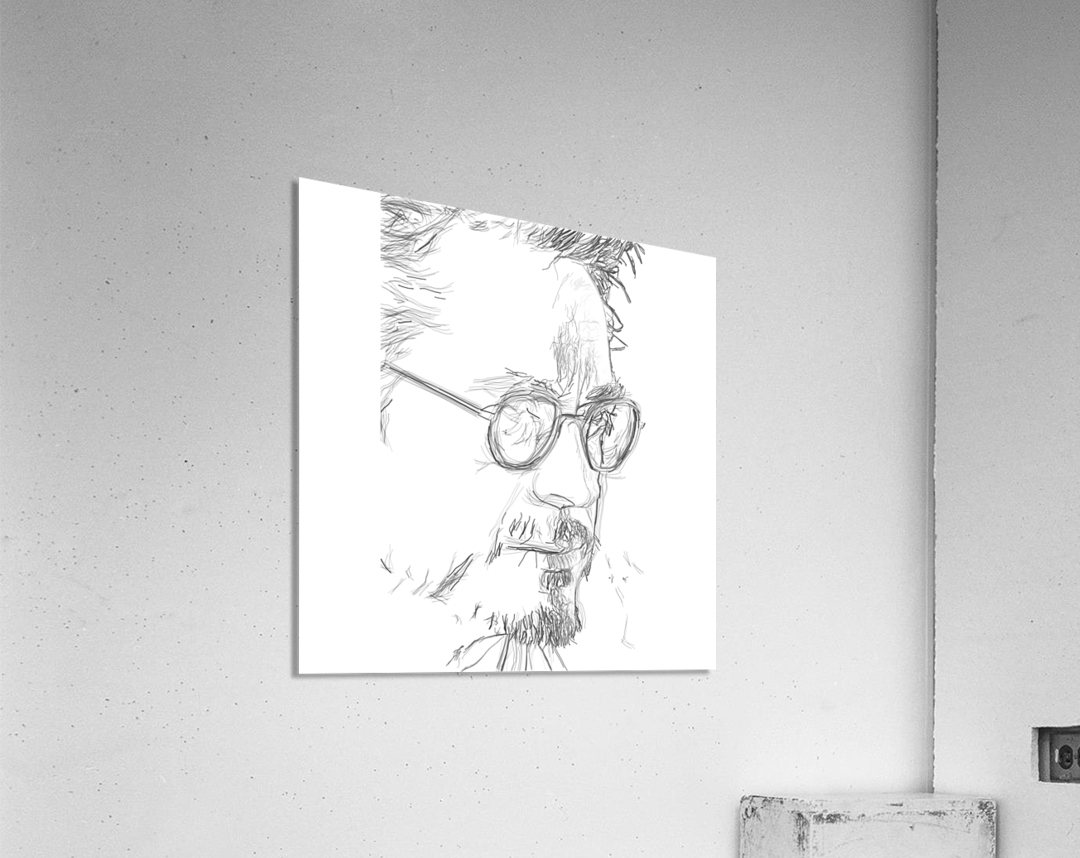 Robert Downy Jr. - Celebrity Pencil Art  Acrylic Print