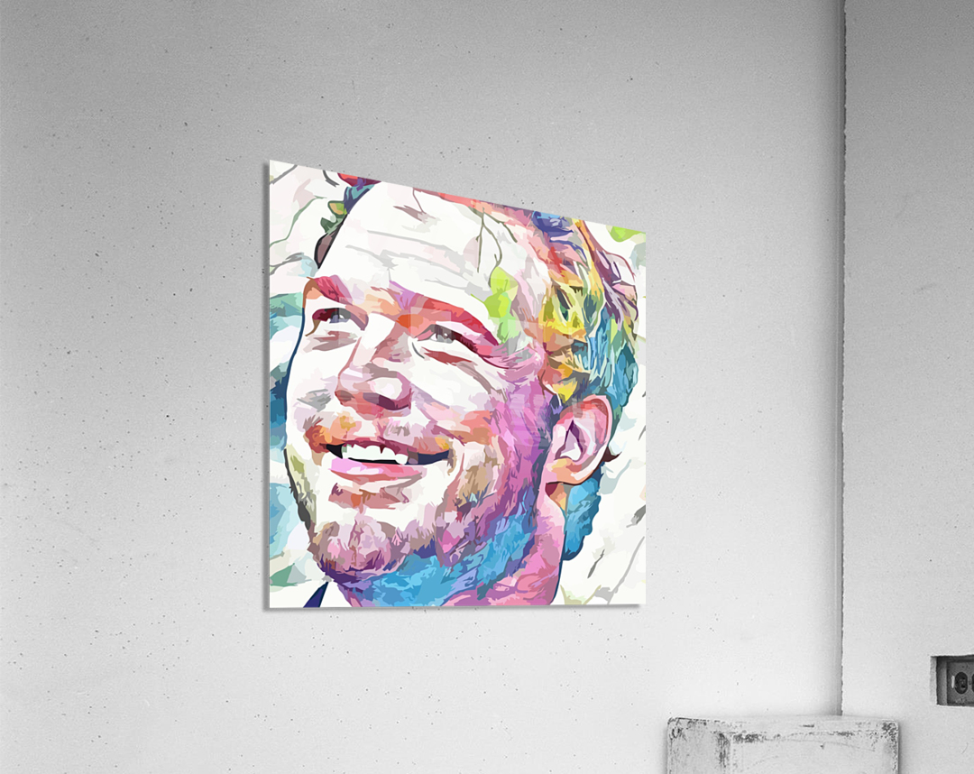Chris Pratt - Celebrity Abstract Art  Acrylic Print