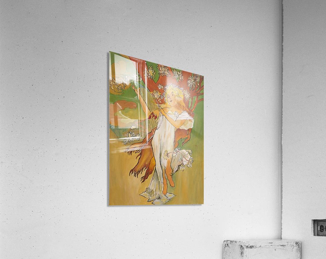 Mucha Spring  Acrylic Print