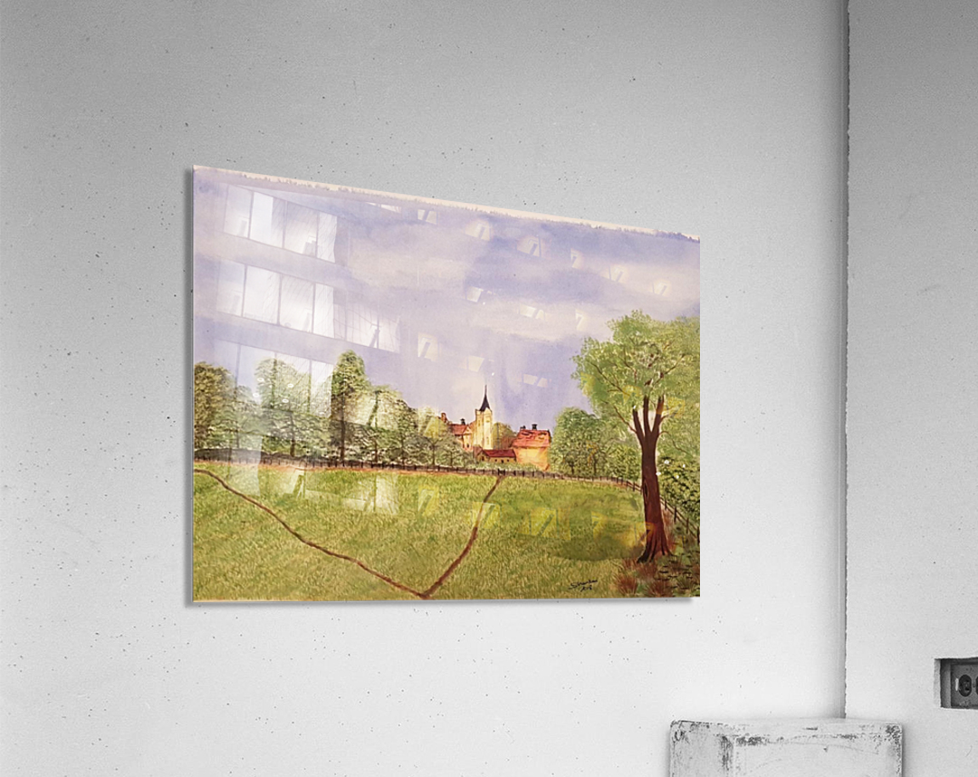 Village Green  Acrylic Print