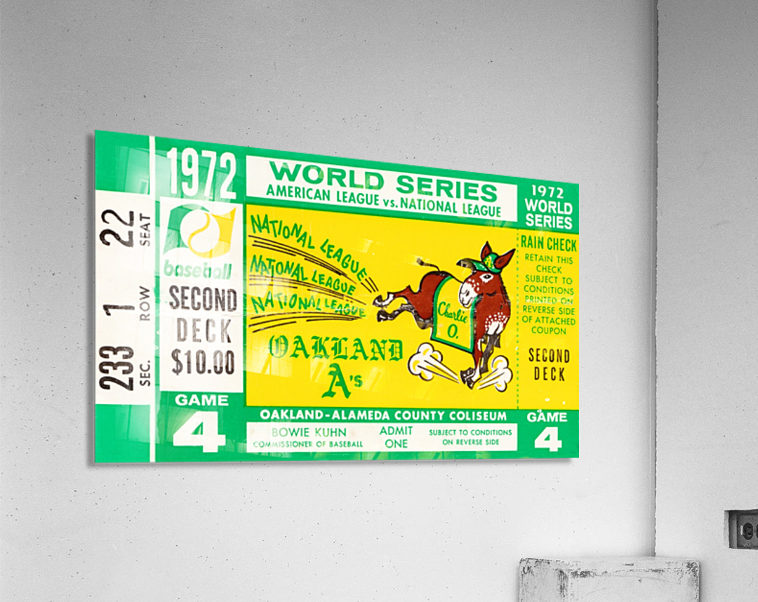 1972 world series oakland athletics  Acrylic Print