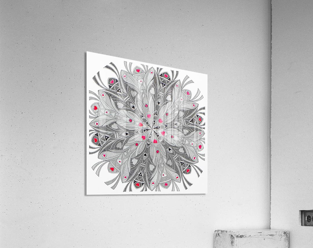flower of hearts  Acrylic Print