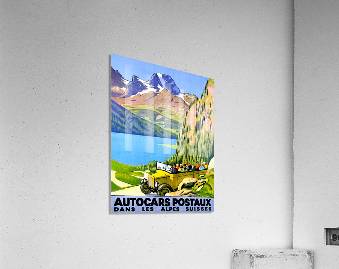 Swiss Alps by Car  Acrylic Print