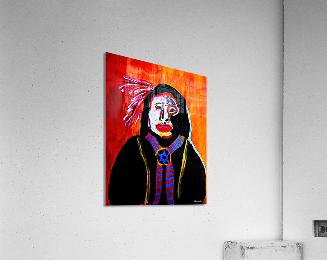 Masked Indian  Acrylic Print
