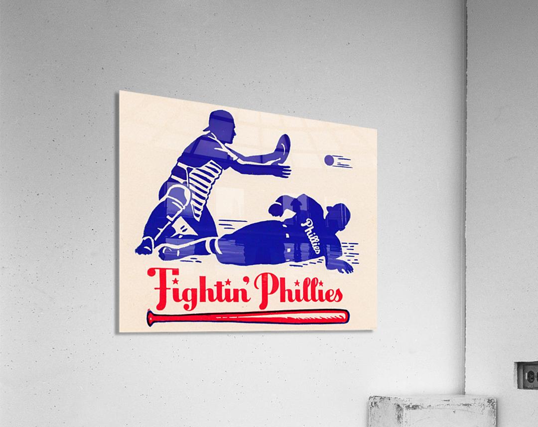 vintage fightin phillies baseball art  Acrylic Print