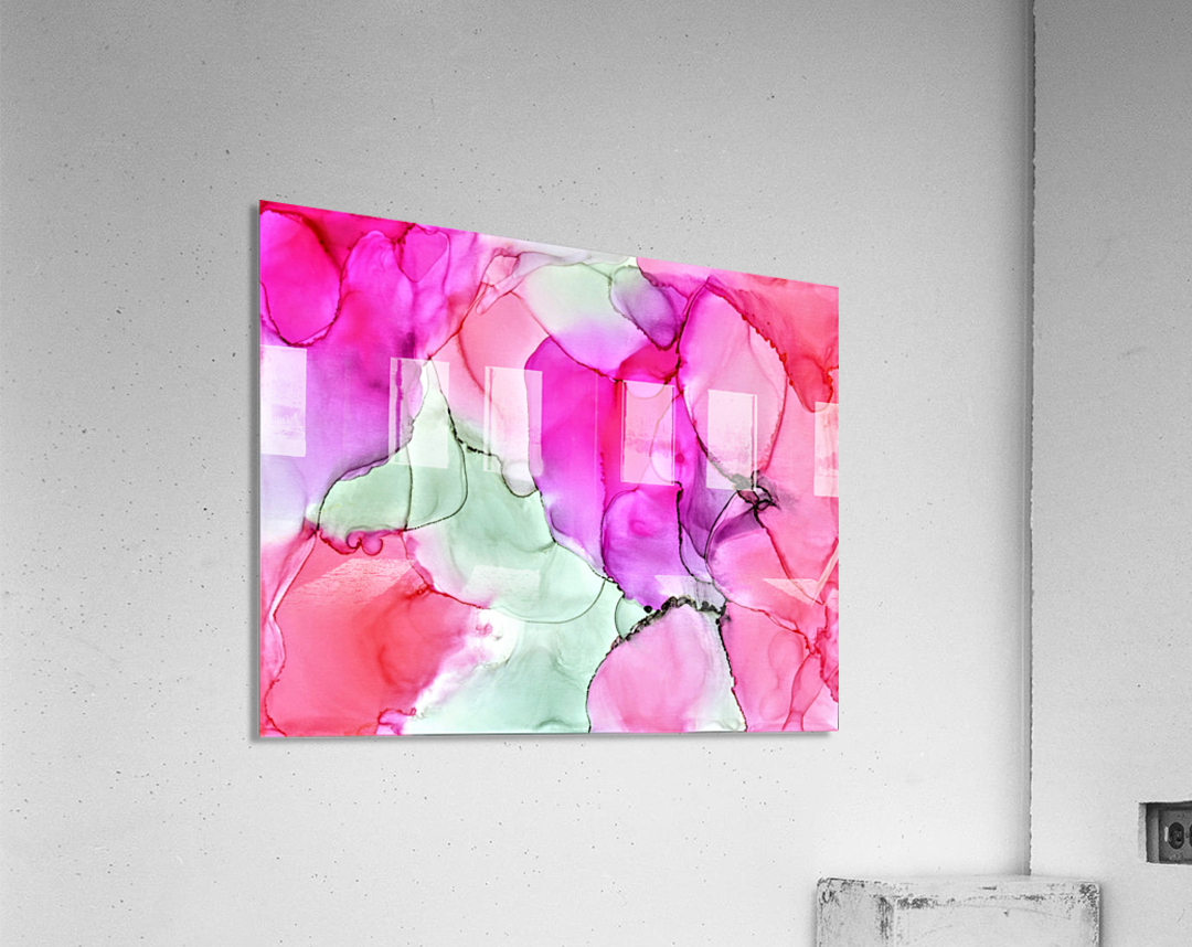 Happiness in Pink  Acrylic Print
