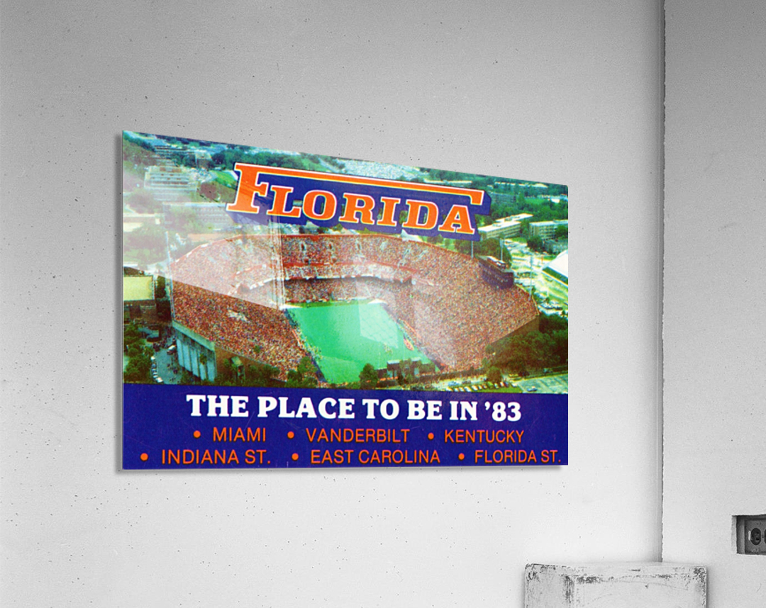 1983 college football florida gators place to be in 83  Acrylic Print