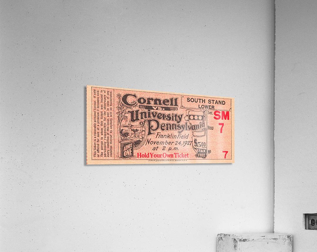 1927 cornell penn ivy league football ticket stub collection  Acrylic Print
