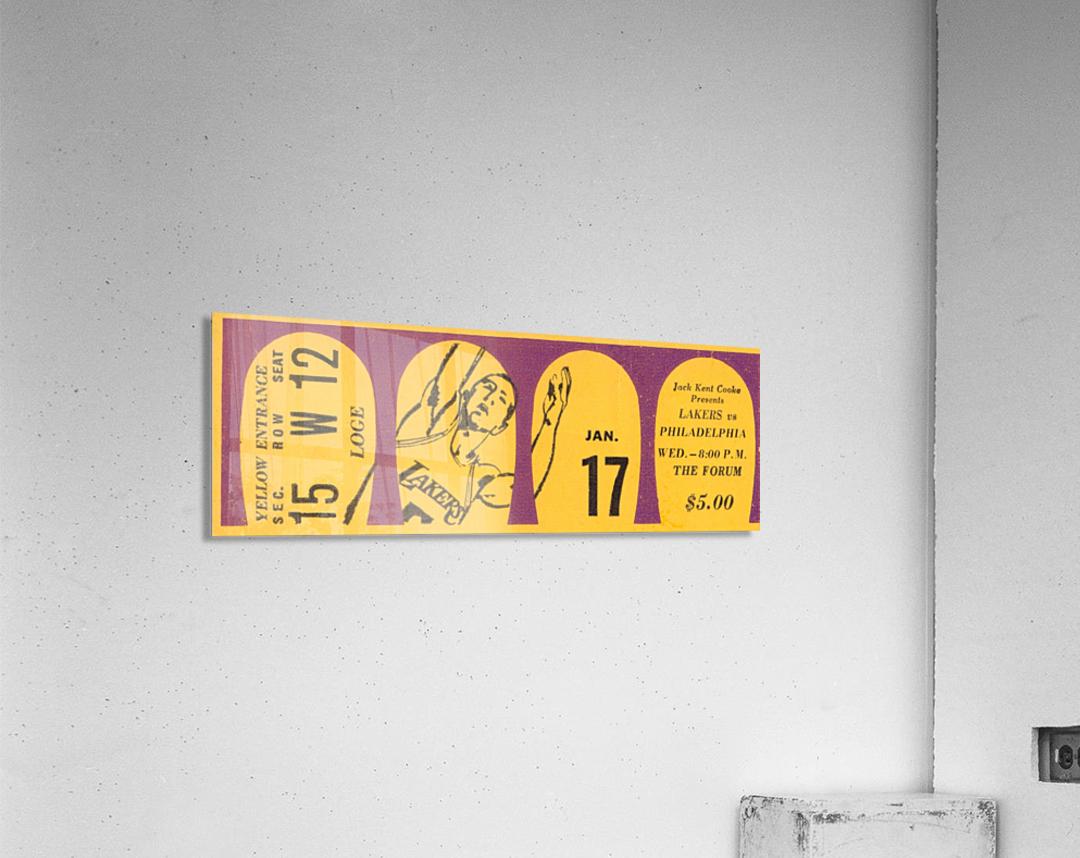 1968 LA Lakers   Acrylic Print