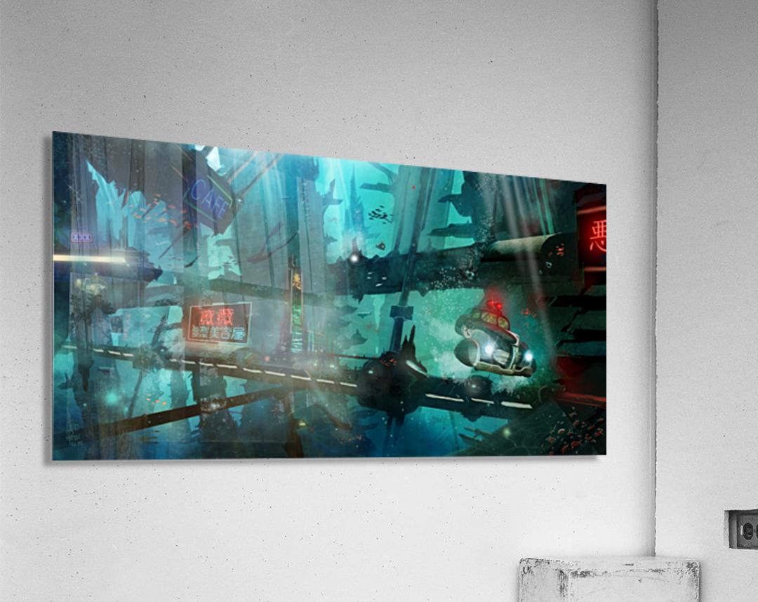 Future Noir - Abyss City  Acrylic Print
