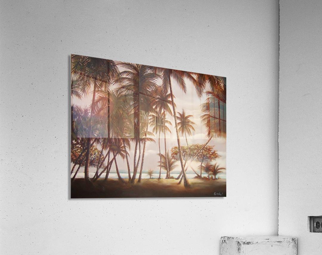 morning beach  Acrylic Print
