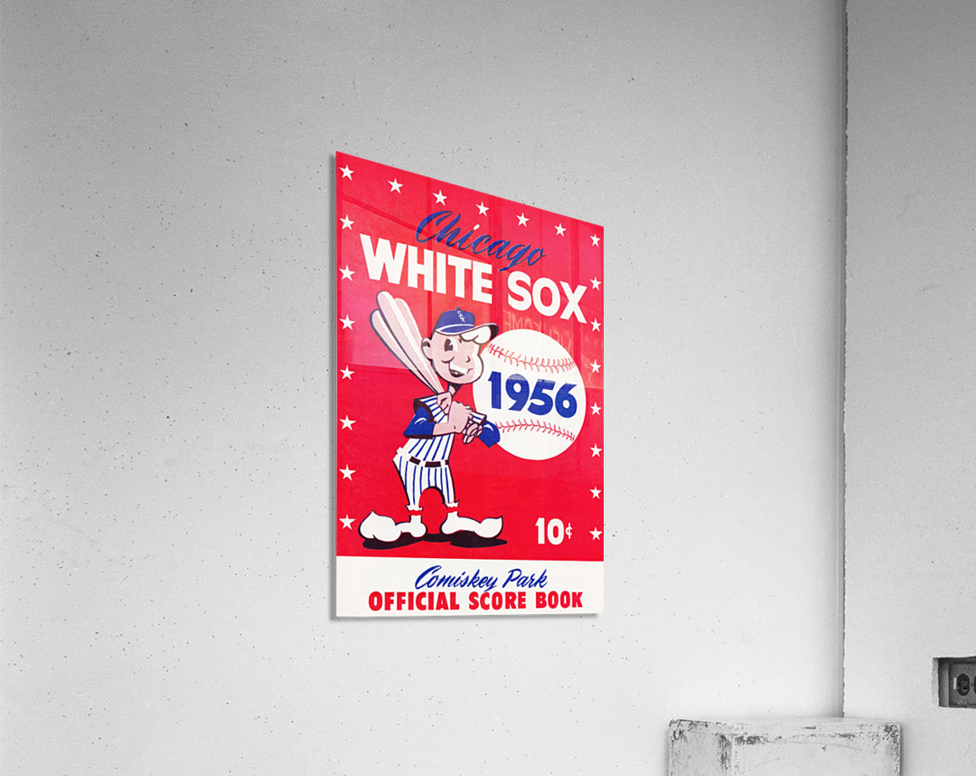 1956 chicago white sox score book canvas  Acrylic Print