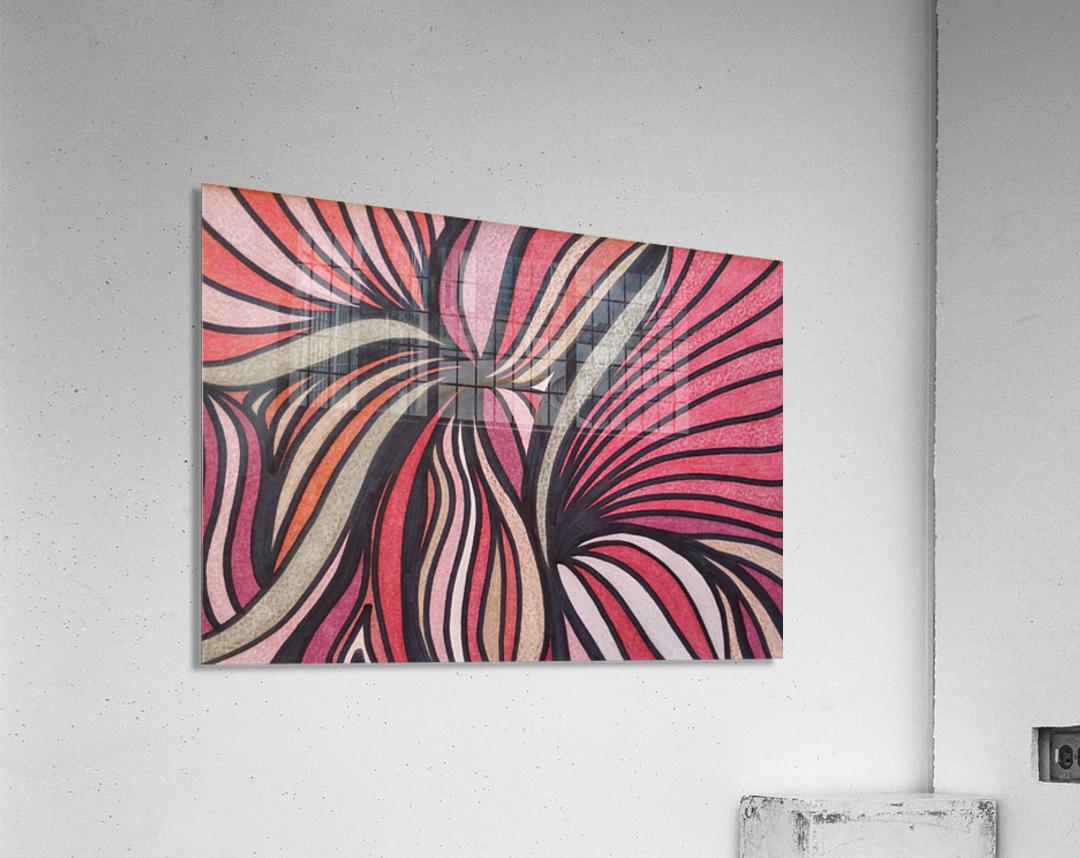 Scarlet Bluff   Acrylic Print