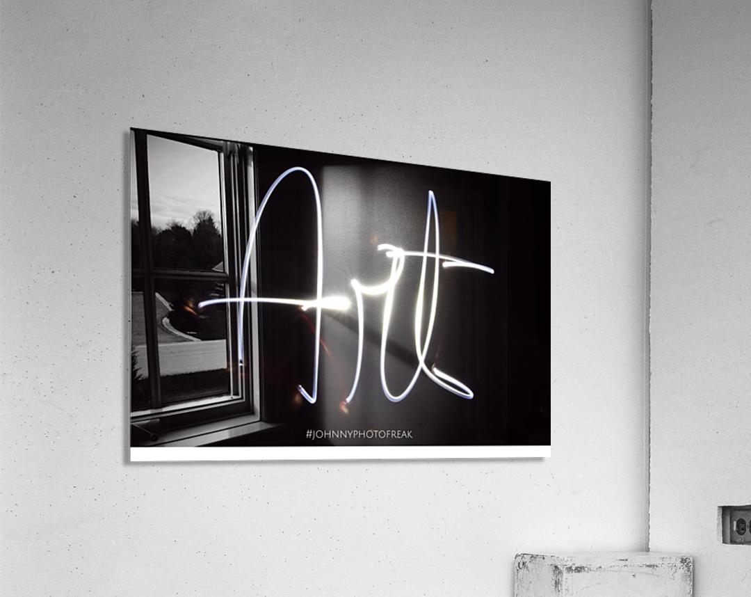 Art light calligraphy  Acrylic Print