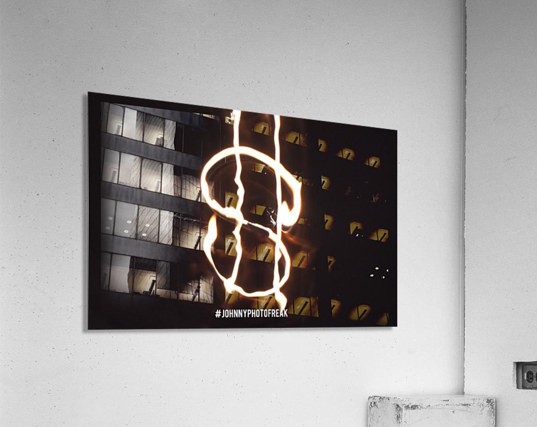 Money light painting fire  Acrylic Print