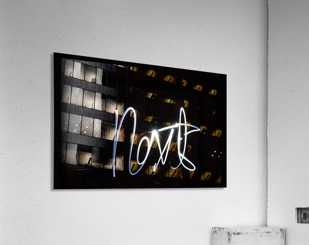 Next light painting  Acrylic Print