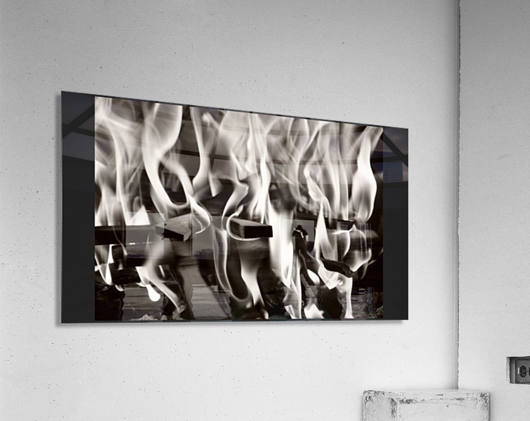 Black and white fire   Acrylic Print