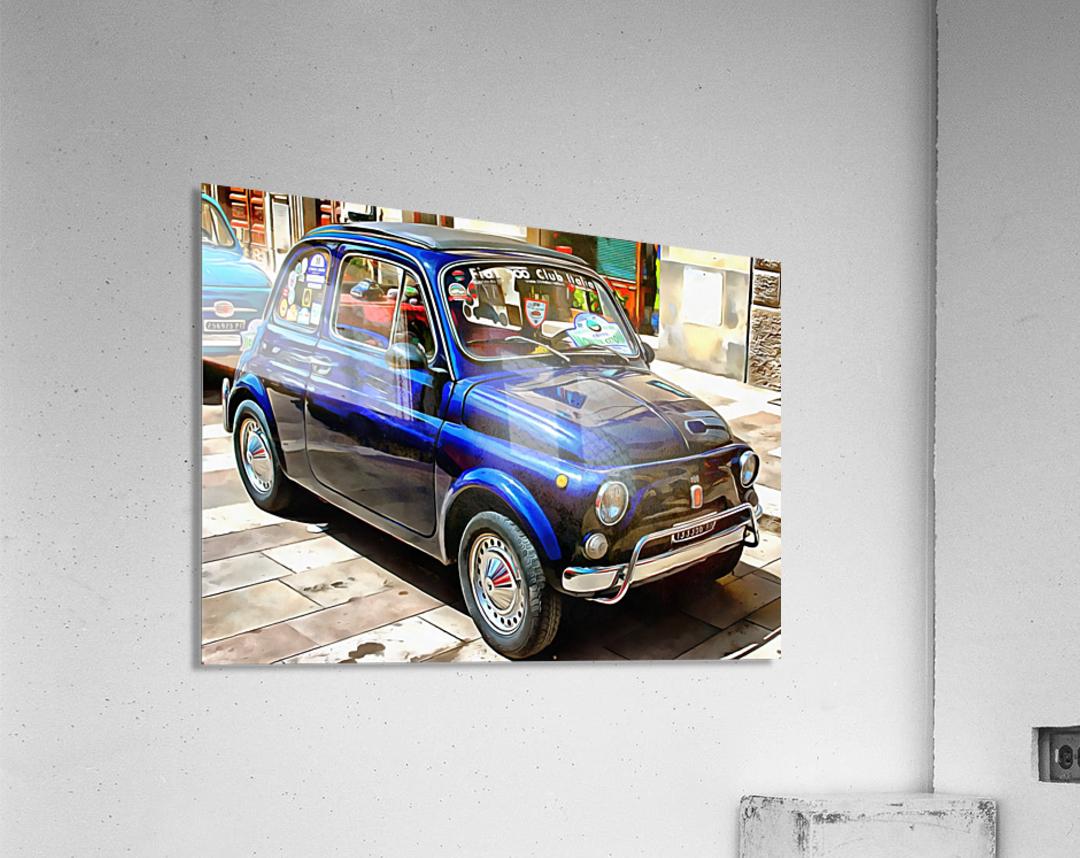 Fiat 500 Dark Blue Version  Acrylic Print