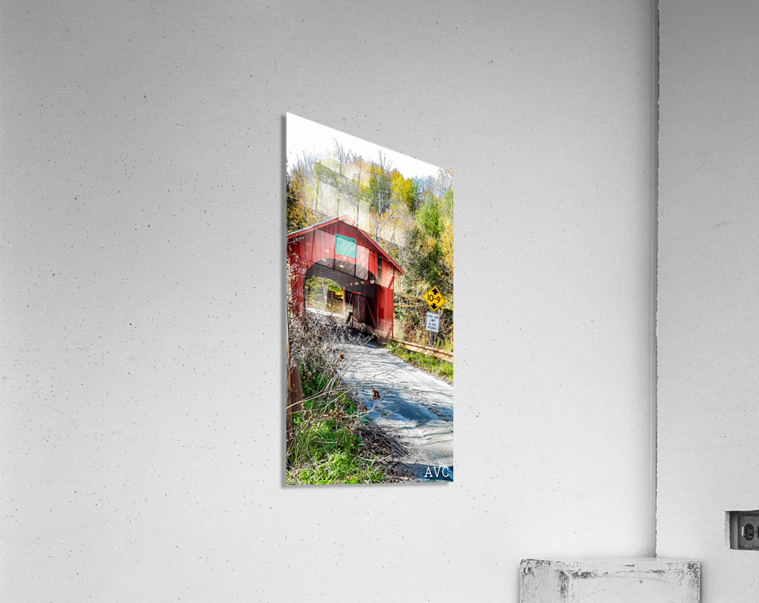 Slaughterhouse Bridge Northfield VT-- Autumn  Acrylic Print