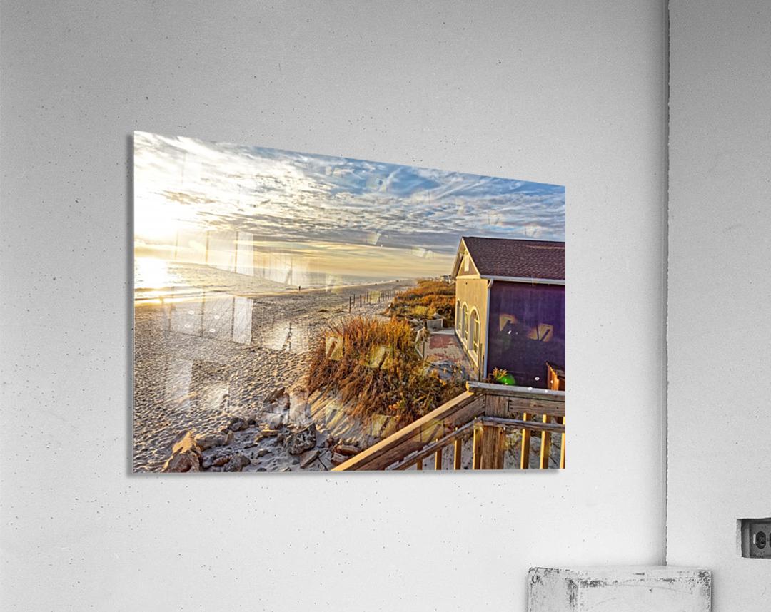 Oak Island Pier View  Acrylic Print
