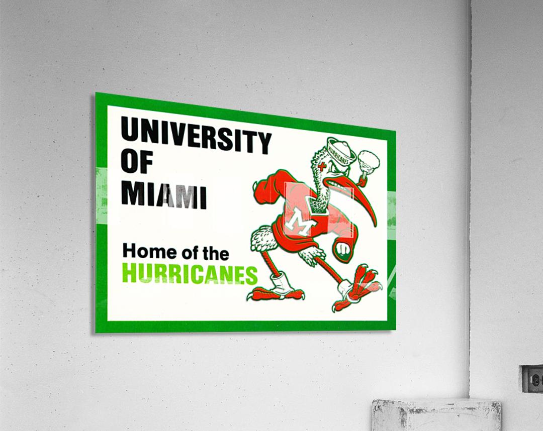 university of miami home of the hurricanes  Acrylic Print