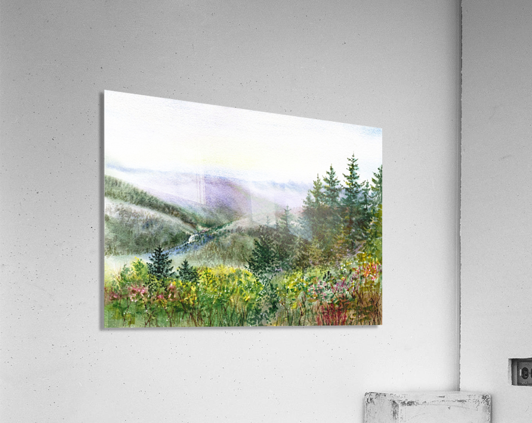 Landscape With Redwood Creek   Acrylic Print