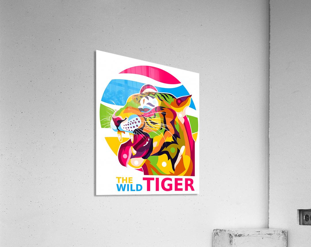 The Wild Tiger  Acrylic Print
