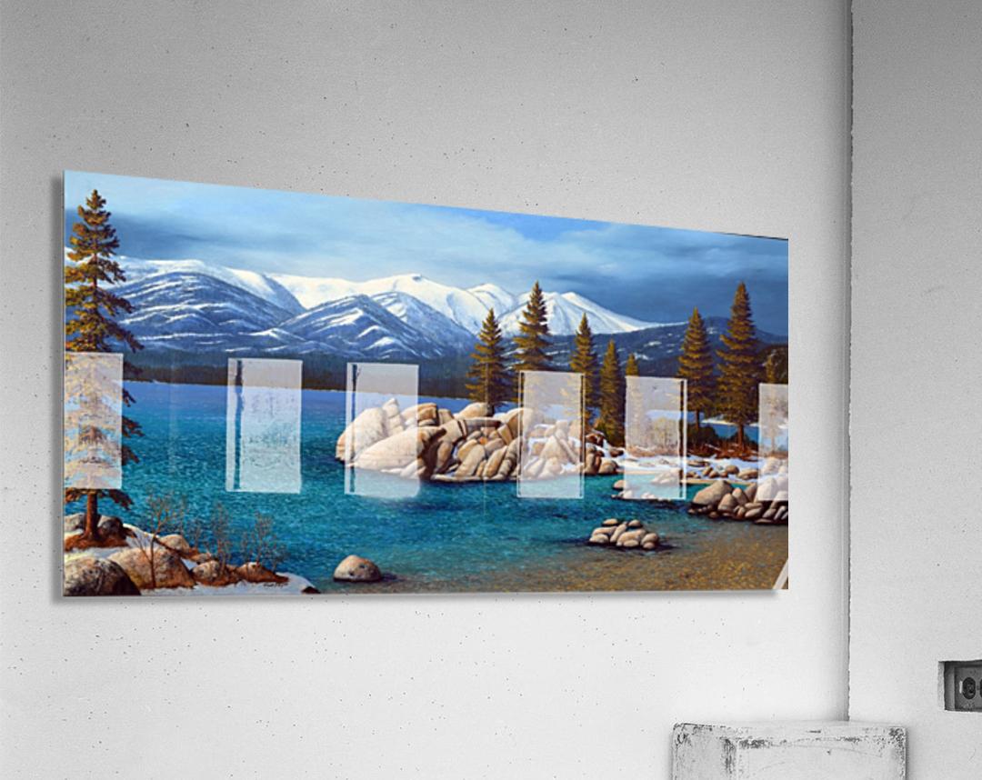 Winter At Sand Harbor Lake Tahoe  Acrylic Print