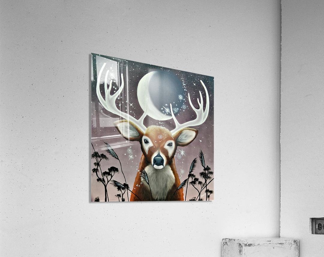 Cerf de lumiere   Impression acrylique