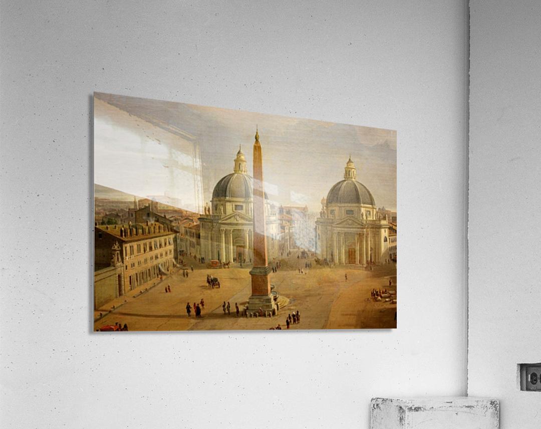 Veduta di Piazza del Popolo a Roma  Acrylic Print