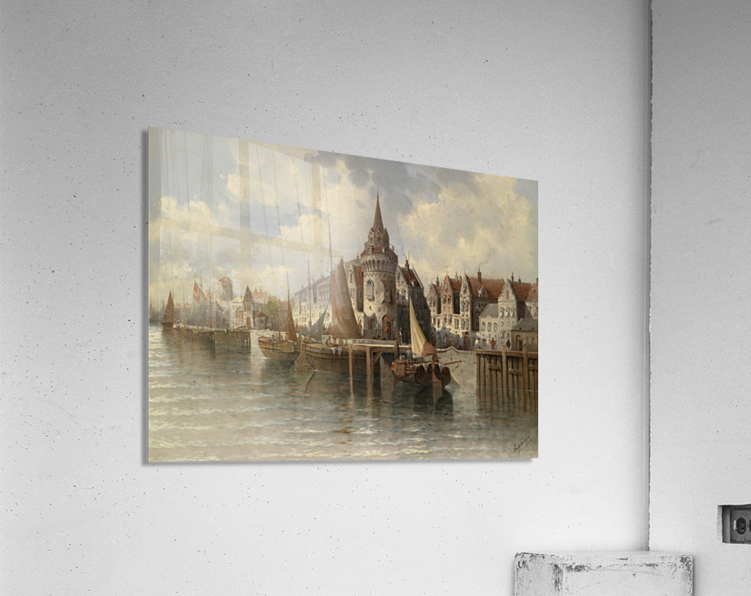 Blick auf eine Hafenstadt  Acrylic Print