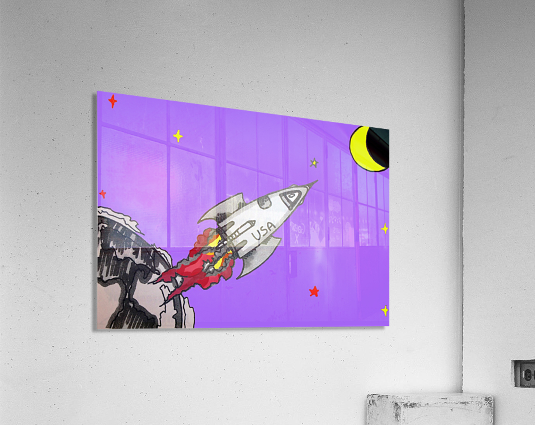 HAVE SPACE SHIP WILL TRAVEL  Acrylic Print