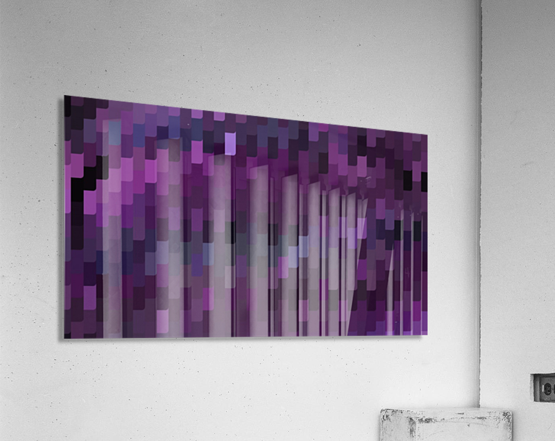 Blue Mosaic Pattern  Acrylic Print