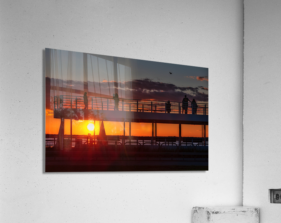 Coucher de  soleil sur Rimouski  Impression acrylique