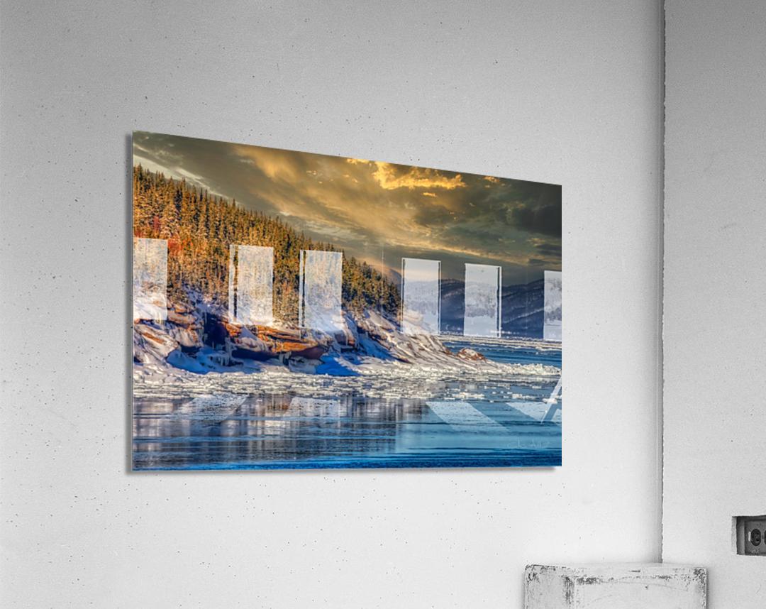 Pointe St-Pierre sous la glace  Impression acrylique
