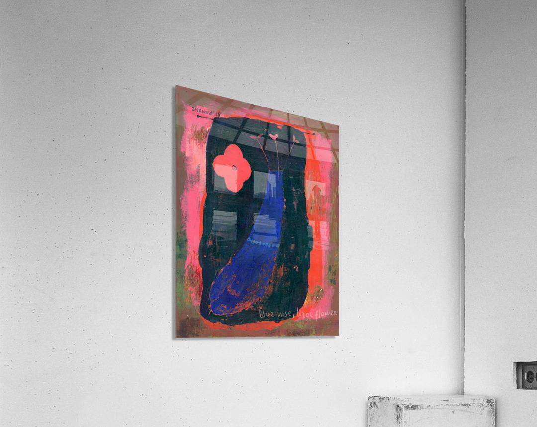 Blue Vase Large Flower  Acrylic Print