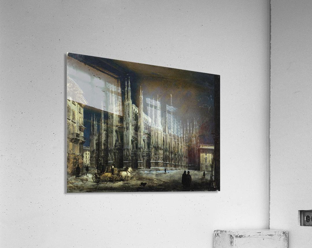 Notturno di Piazza del Duomo a Milano  Acrylic Print