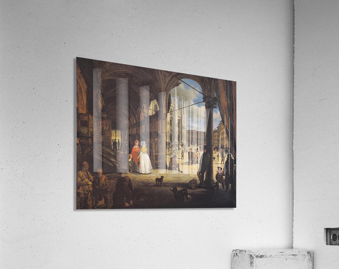 Veduta della piazza del Duomo dal Coperto dei Figini  Acrylic Print