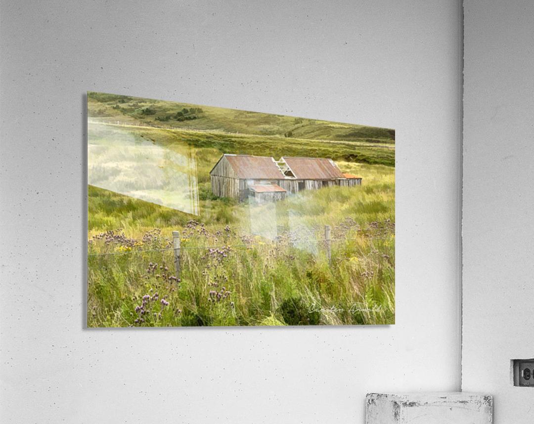 Scottish Highlands Barn  Acrylic Print