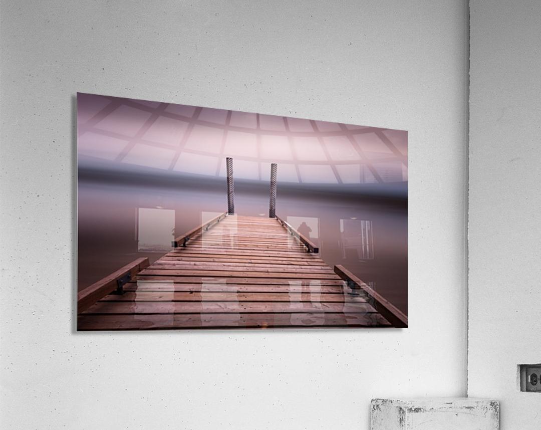 The jetty on Comox Lake  Acrylic Print