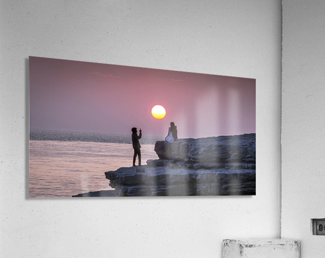 Photo opportunity at Nash Point  Acrylic Print