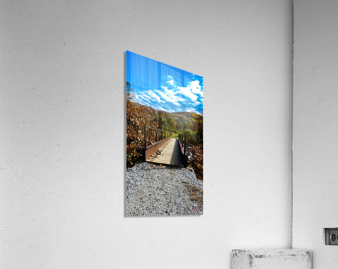 Rugby Pitch Bridge-- Autumn  Acrylic Print