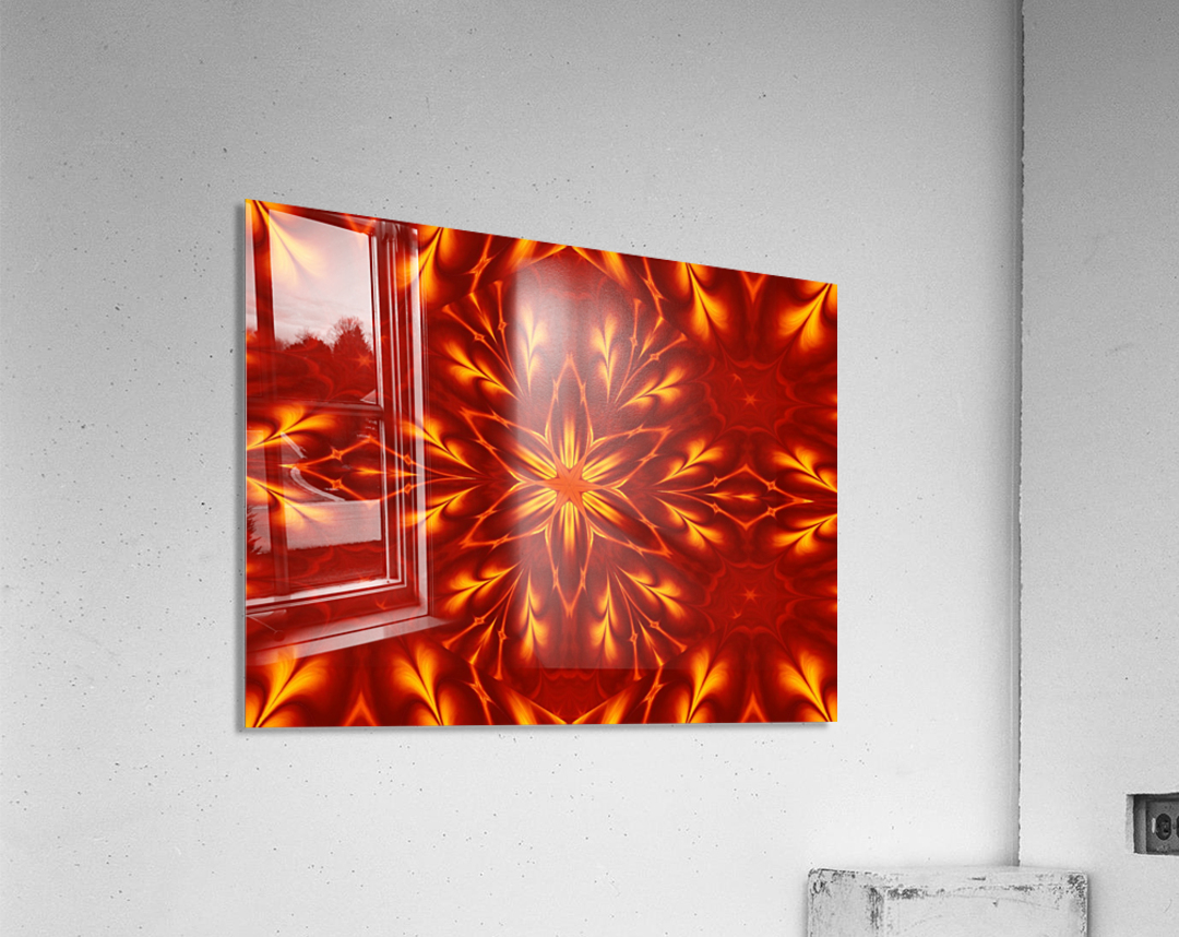 Fire Flowers 9  Acrylic Print