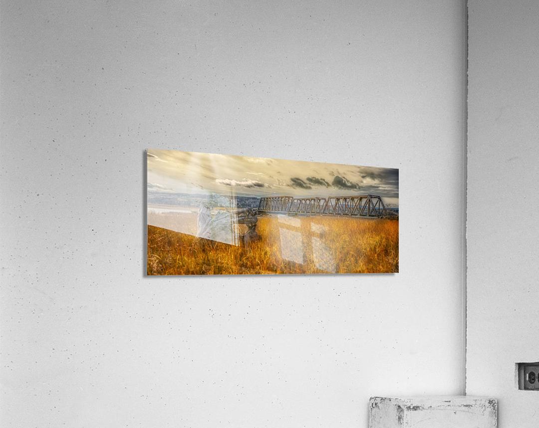Pont de fer plage Haldimand  Impression acrylique