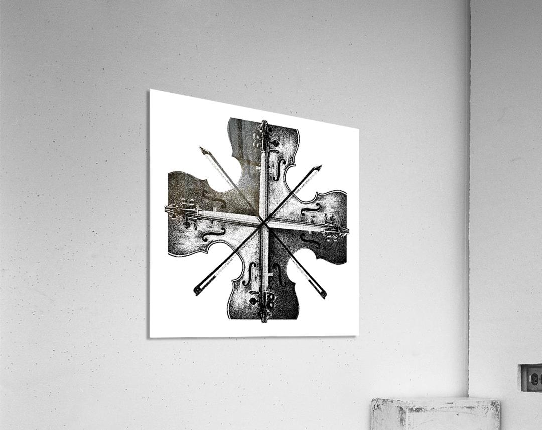 Harmony 36x36 BW  Acrylic Print