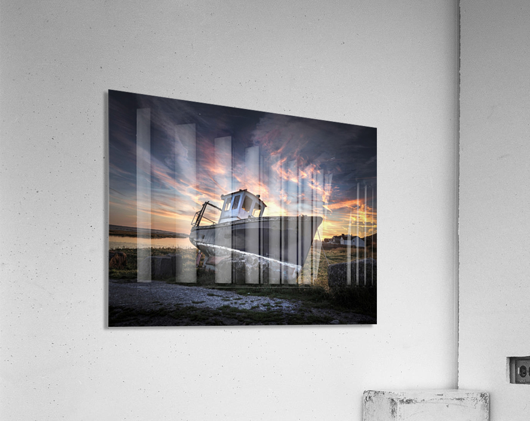 The old fishing boat  Acrylic Print