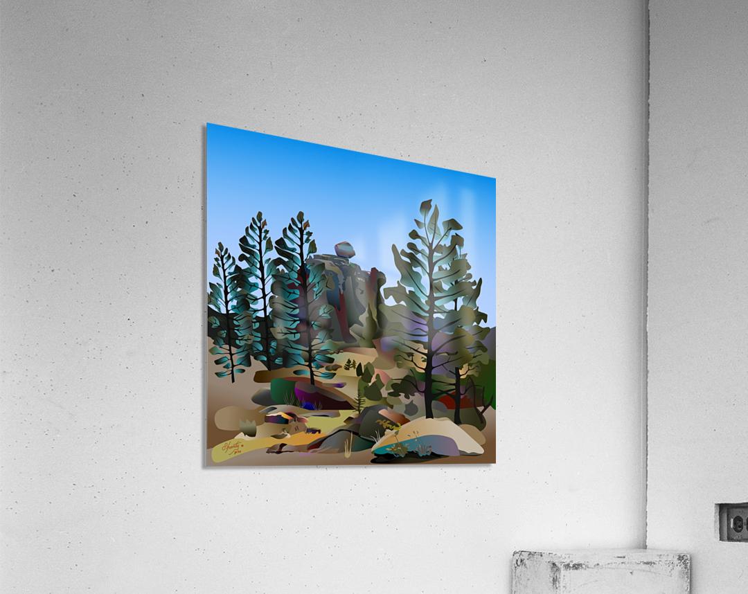 Balancing Boulder  Acrylic Print