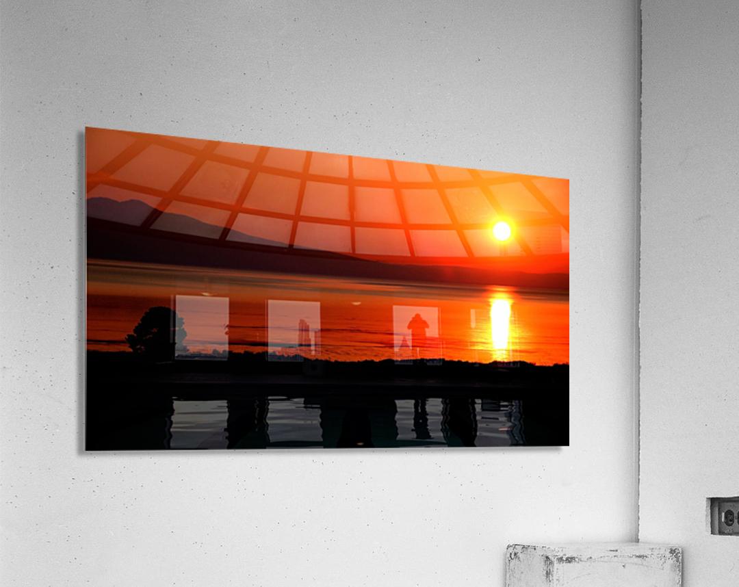 Honey Lake Sunrise  Acrylic Print