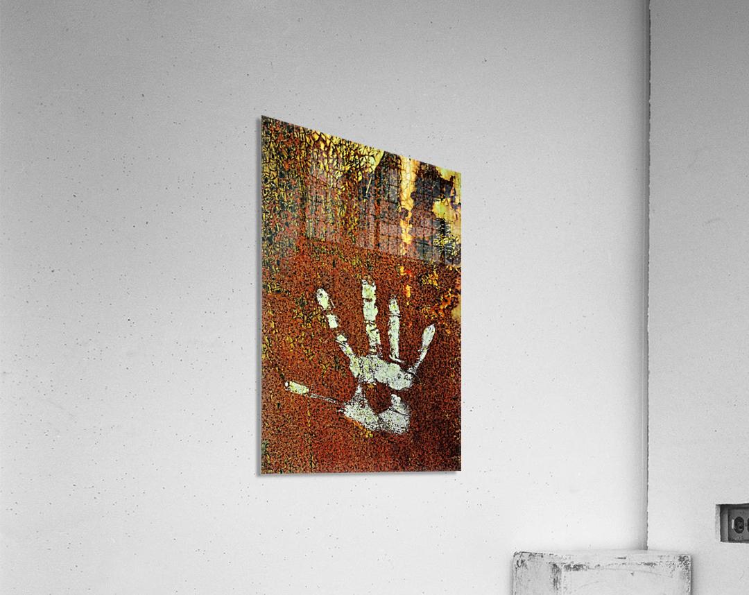 Rusty Door Hand Print  Acrylic Print