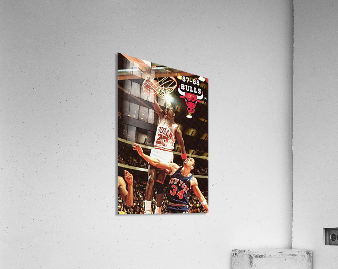 1987 Chicago Bulls Michael Jordan Art  Acrylic Print